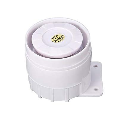 Mando a Distancia, Exterior, 100/Db, Carcasa de Metal, bater/ía operativos, Pantalla LED, luz de Flash Color Blanco TR 1/Mando a LSM900LED Alarma Sirena De Emergencia