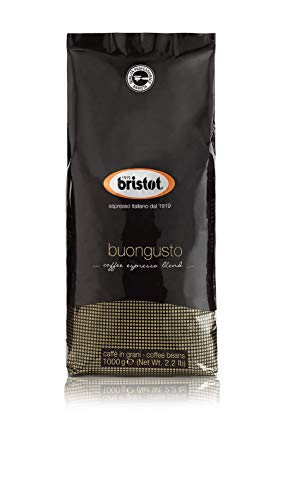 Bristot Buongusto Italian Espresso Beans | Italian Coffee Beans Whole | Medium Roast | Low Acid | 2.2 lb/1kg