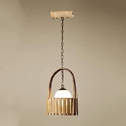 Pared escono luz lámpara cesta de madera tira de madera costura colgante ligero estilo loft madera 1-luces cocina isla luces techo colgando luz para comedor restaurante restaurante