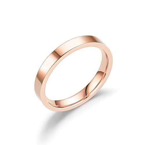 Wsnld Simple 2mm 4mm 6mm anillos redondos para las mujeres oro plata color acero inoxidable anillo de boda joyería de moda
