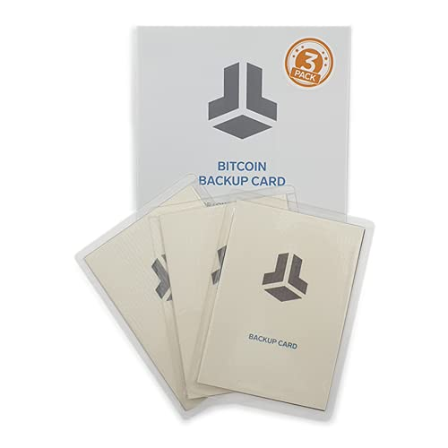 BitBox Bitcoin Backup-Karten - Langzeitsicherung für Crypto-Wallets - Laminierte, alterungsbeständige Karten mit detaillierten Instruktionen - Enthält 3 komplette Backup-Sets