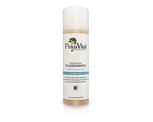 Pinus Vital Naturkosmetik | Regulierendes Pflegeshampoo | Kräftigt das Haar & beruhigt die Kopfhaut | Zertifizierte Naturkosmetik | 200 ml
