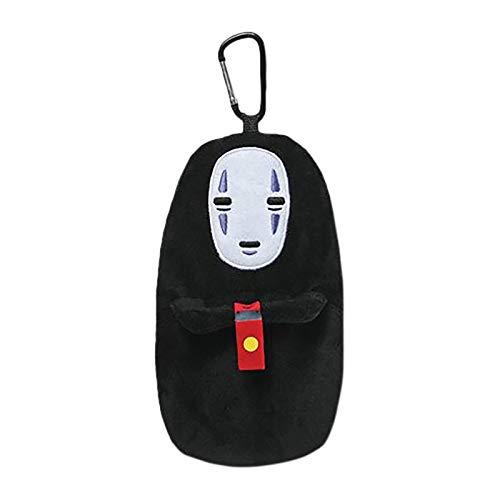 Studio Ghibli Chihiros Reise ins Zauberland Plüsch Geldbörse Ohngesicht Farbe: schwarz. Material: 100% Polyester, Hersteller Sun Arrow.