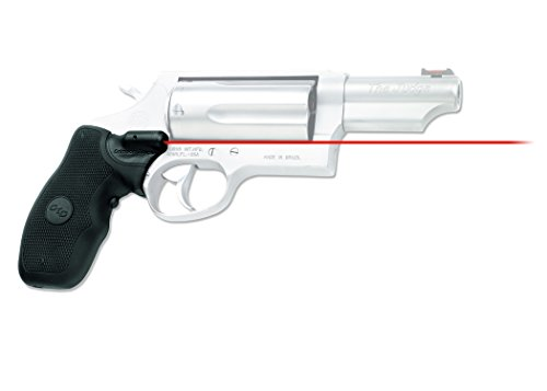 Crimson Trace LG-375 Lasergrips with Red Laser, Heavy Duty Construction and Instinctive Activation for Taurus Judge and Tracker Revolvers, Defensive Shooting and Competition