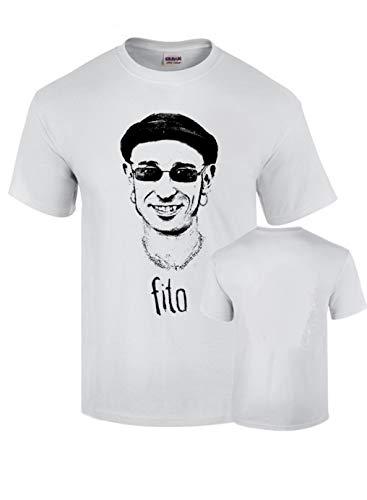B & C Camiseta Fito Impresion Premium Negra y Plateada Algodon Calidad 190grs (L)
