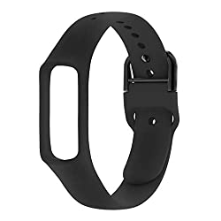 Made of high quality silicone material, it is flexible, durable, eco-friendly and safe for human skin. Replace old / broken/ cracked / damaged / bad smart watch band for Samsung Galaxy Fit-e R375 smart watch. Easy to adjust the size according to indi...
