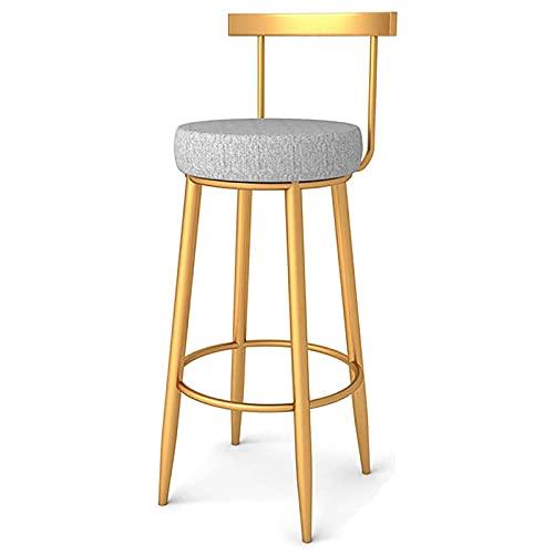 Barhocker Moderne nordische Barstühle PU Leder Thekenhocker Island Stühle hohe Barhocker mit Back Dining Chairs,55cm