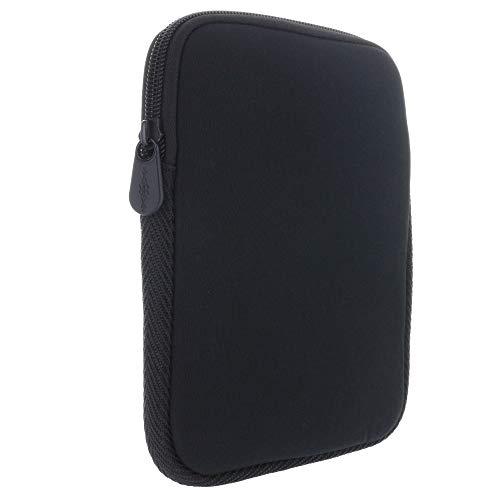XiRRiX eBook Reader Tasche aus Neopren mit Reißverschluss - Größe 6 Zoll (15,24cm) kompatibel mit Tolino eReader Modelle - Hülle in schwarz