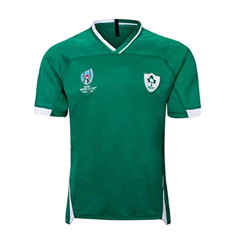 HANJIAJKL Rugby Maillot,Coupe du Monde Irlande Home and Away Survêtements,Football T-Shirt Respirant Textile,Vert,M