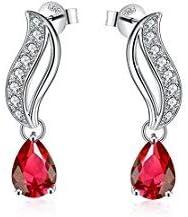 J.Rosee Women Classic 925 Sterling Silver Hoop Earrings