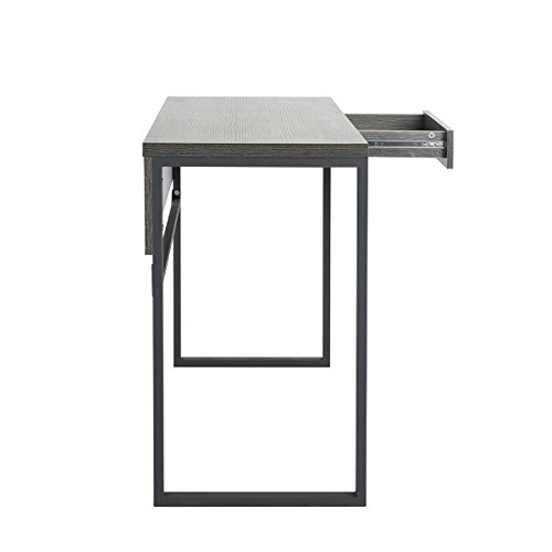Homy Casa Modern Writing Table with Drawer, Industrial Style Vanity Table, Computer Desk Table