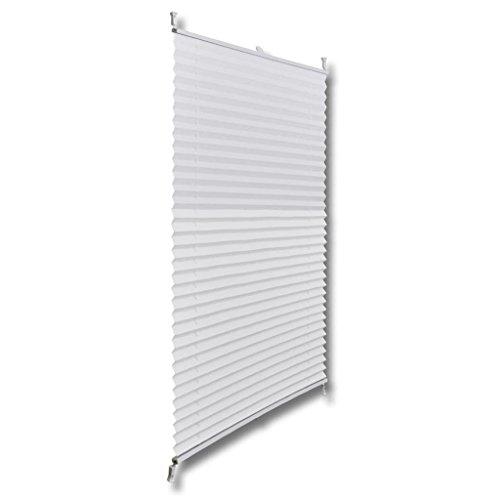 Tidyard Persiana Plisada Plegable Blanca 70X125cm