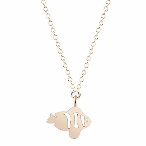 Collar de origami de peces tropicales, colgante de pez geométrico dorado, collar y colgante de océano, accesorios de fiesta, regalo para bebé, Goryeo