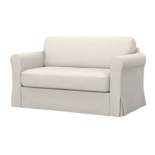 Soferia Replacement Cover for IKEA HAGALUND Sofa-Bed, Fabric Eco Leather Light Beige