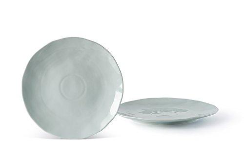Fill Salbei Set 4Stück Teller aus Steinzeug, Keramik, Wasser, 25x 25x 2.5cm