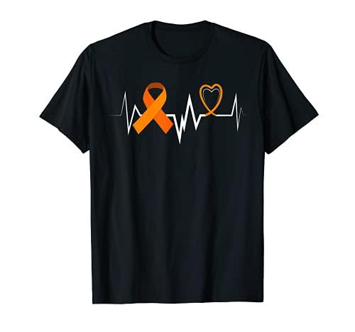 Heartbeat Products Leucemia Ribbon Leucemia Conciencia Camiseta