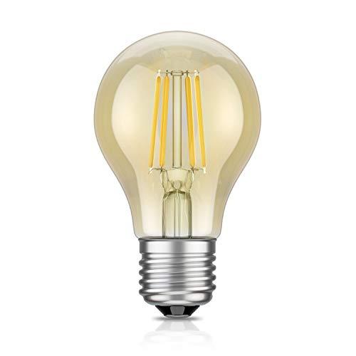 E27 LED-lamp filament vintage goud A60 4W = 42W extra warmwit 480 lm A++ voor binnen en buiten