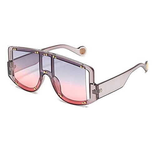 Lsdnlx Gafas de Sol,Gafas de Sol para Mujer Gafas de Sol con gradiente único Gafas con Montura de plástico Grande Sombras para Mujer