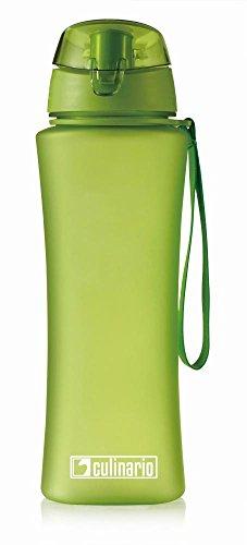 Culinario Trinkflasche Ice Loop aus Kunststoff, 700 ml, in grün, mit Silikon-Dichtungsring, Schraubverschluss, Hängeschlaufe, geschmacksneutral