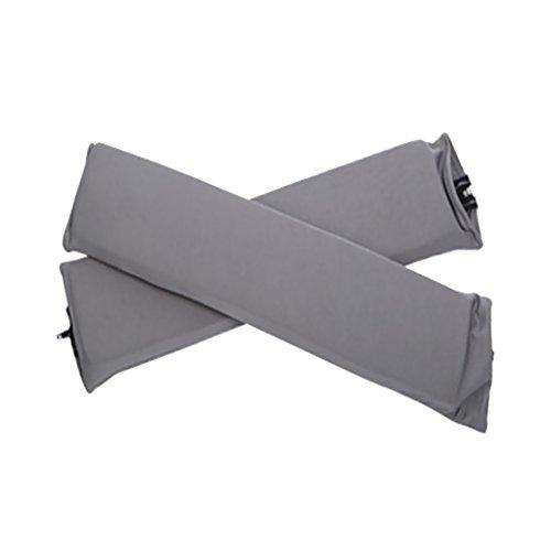 2 STK. Elastische Armauflage, Armlehnen Polster, Ellenbogen Kissen für Drehstuhl Bürostuhl - Grau