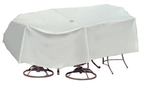 Covers Kit de Protection pour Patio avec Casque Umbrella Oval Rectangle Table Gris