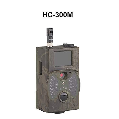 Cámara de Caza HC-330M Vs HC-300M 16MP 940nm Cámara de Caza de visión Nocturna Cámara de Rastro MMS SMS gsm GPRS 2G Trampa fotográfica Cámara Salvaje (Color : HC 300M)