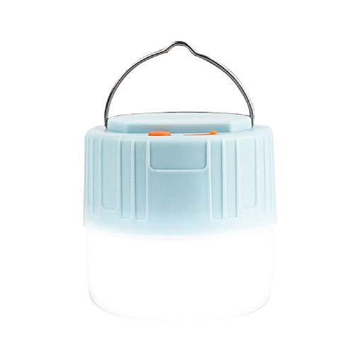 Luz solar LED para camping con control remoto, linterna recargable por USB con 3 modos de luz, linterna impermeable para exteriores, lámpara para emergencias de huracán y senderismo
