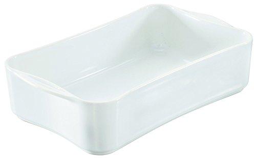 Visiodirect Lot DE 4 Plats INDIVIDUELS RECTANGULAIRES Blancs Cook&Play L190 x lg125 x H50 mm