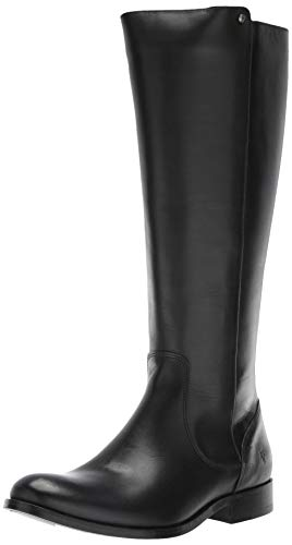 FRYE Women's MELISSA STUD BACK ZIP Equestrian Boot, black extended, 6 M US