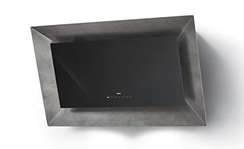 BEST Frame HF BHC94750SA - Cubierta de pared barnizada con cristal y estaño (90 cm), color gris
