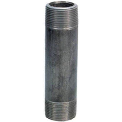 "Anvil 8700141305, Steel Pipe Fitting, Nipple, 1"" NPT Male x 6"" Length, Black Finish"