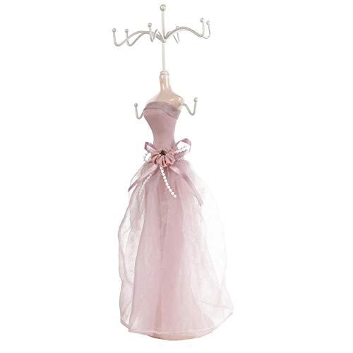 yuyte Modell Kleid Schuhe mit hohen Absätzen Ohrring Halskette Ring Schmuck Halter Ständer Display Hängender Halter Ständer Rack(01)