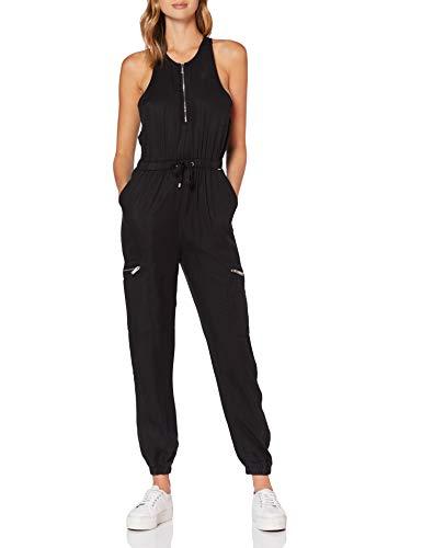 Superdry Damen Kaya Utility Jumpsuit, Schwarz (Black 02A), S (Herstellergröße:10)