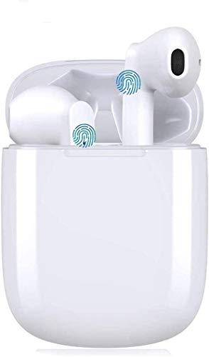 Auriculares Bluetooth V5.0 Deportivos,Inalámbricos Running Cascos In-Ear,Reducción de Ruido,Fitness,Viajes,Impermeable Smart Touch IPX8,micrófono HD incorporado y estéreo 3D,para iOS Android.