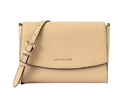 """Leather with light gold tone hardware Approx 9"""" x 7' x 3"""" with removable adjustable shoulder strap. Back outside slip pocket, Inside front and back slip pockets. Inside 2 wall slip pockets Inside Logo Lining and leather trim. Flap Closure Imported"""