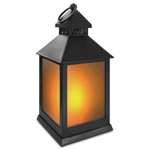 Eaxus® LED Windlicht mit Flammeneffekt Kerze - Wohnzimmer & Garten Deko
