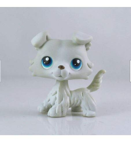 Littlest Pet Shop LPS#363 Grey Collie Dog Blue Eyes Girl Toys