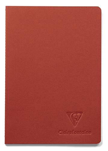 Clairefontaine 115657C – ein Notizbuch mit Ingres, genäht, Fadenheftung, 96 Seiten, 14,8 x 21 cm, liniert, 90 g, Einband aus geripptem Papier, Ingres, zufällige Farbe