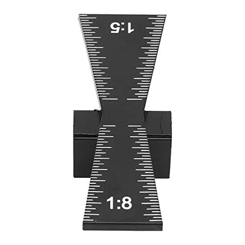 Marcador de cola de milano, regla de carpintería, calibre de cola de milano de aleación de aluminio, herramienta de carpintería, regla de conexión de marcado de madera de cola de milano (1: 5 1: 8)