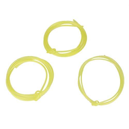 Fdit 1,5 meter 2 mm 2,5 mm 3 mm gele brandstofleiding slangbuis geschikt voor Poulan ambachtslieden Husqvarna Weedeater kettingzaag trimmer blazer