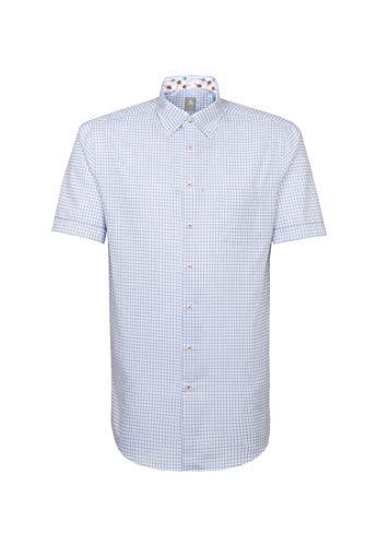 Jacques Britt Herren Business Hemd Custom Fit Kurzarm Button-Down-Kragen Bügelleicht
