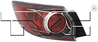 Fits 2010-2013 Mazda 3 Tail Light Driver Side NSF Certified Bulbs Included MA2800147 - Replaces BBN7-51-160D ;for Hatchback; Std Type
