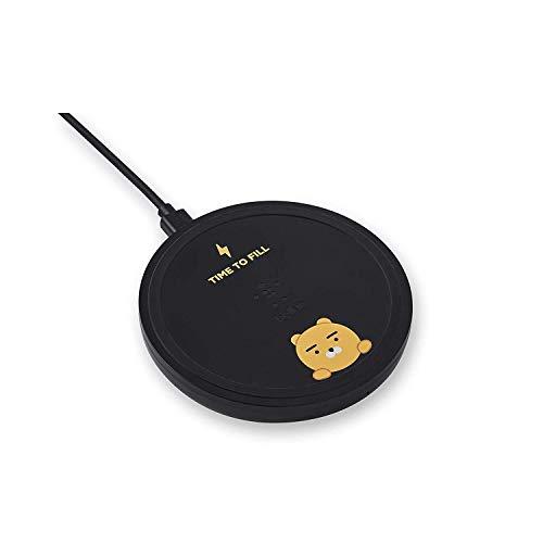Belkin ワイヤレス充電器 充電パッド Qi認証 AirPods/AirPods Pro/iPhone 12 Pro / 12 / SE / 11 / XR 対応 5W 7.5W 10W 出力 カカオフレンズエディション ライアンバージョン ブラック F7U088BTBLK-KK-A
