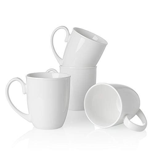 Mugs for Tea, Cappuccino, Latte, Coffee, Cocoa, Set of 4