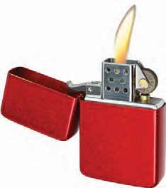 Vector KGM Thunderbird Vintage Lighter - Street Scratched Antique RED...