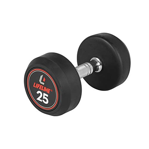 Lifeline Pro Round Rubber Dumbbell - Multiple Weight Options