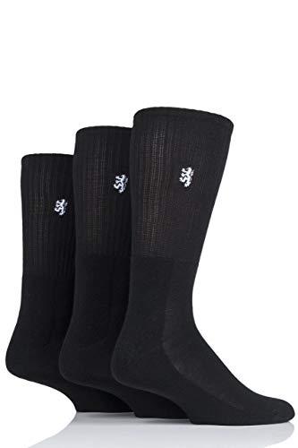 Pringle Herren Bambus Gepolstert Sportsocken Exklusiv für SockShop Packung mit 3 Schwarz 40-46