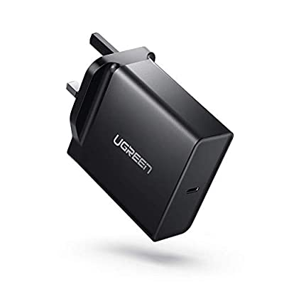 "UGREEN USB C Charger 65W PD Charger Type C Wall Charger Plug Fast USB Travel Charger Adapter for Macbook Pro 13"", Macbook, Huawei Matebook X Pro, ASUS C302CA, Lenovo 720/920/900, iPhone XS Max etc"