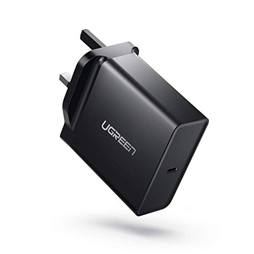 """UGREEN USB C Charger 65W Type C PD Wall Charger Plug Fast USB Travel Adapter Compatible with Macbook Pro 13""""Huawei Matebook X Pro ASUS C302CA Lenovo 720/920/900 iPhone SE 2020 11 iPad Pro etc"""