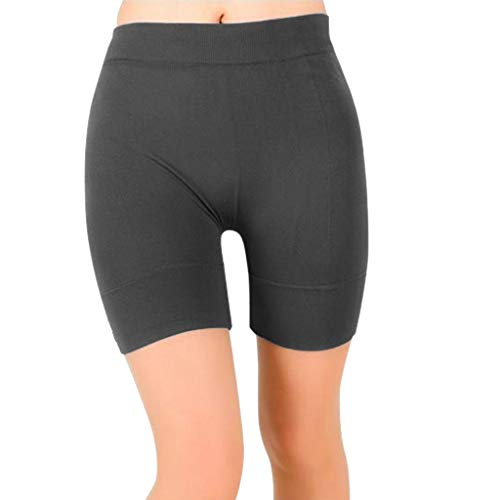 MORCHAN Femmes de Base Slip Bike Shorts Compression Leggings d'entraînement Yoga Shorts Capris(Gris/Large)